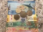 Beautiful examples of Costa Rica money.