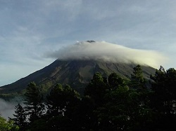 This high quality live camera looks right at the Arenal volcano.  Often shrouded by cloud cover, you can occasionaly catch a view of the entire mountain