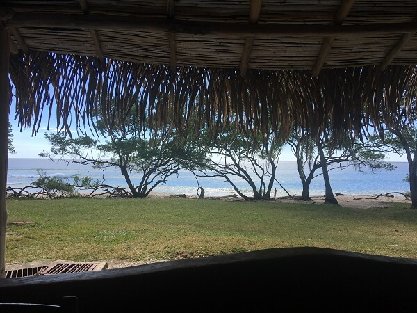 View from our lunchtime table of Playa Negra
