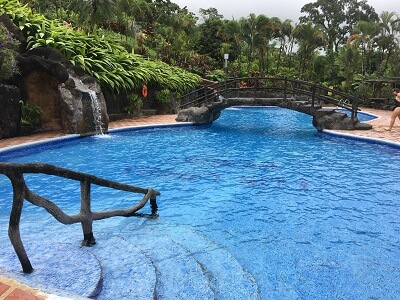 The main pool at Los Lagos