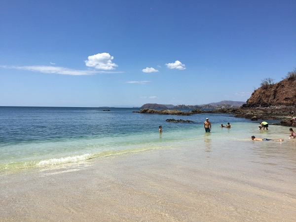 The north side of Playa Conchal has the calmest water