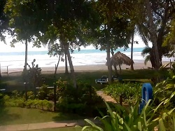 Live view of the park and beach at Playa Esterillos Costa Rica