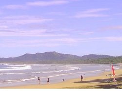 View from Tamarindo beach looking northward towards Playa Grande