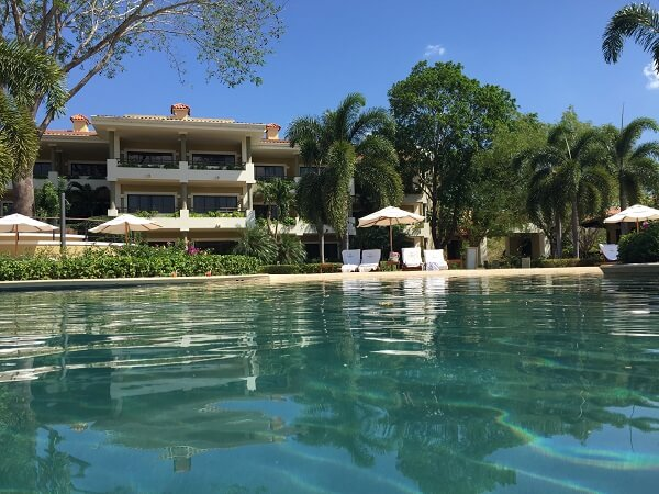 View of the Westin Playa Conchal adult villas and surrounding uncrowded pool