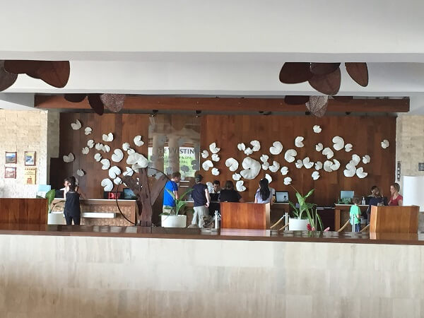 The front lobby of the Westin Playa Conchal
