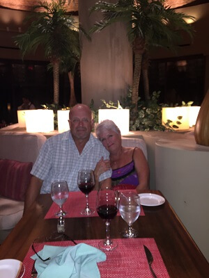 15th anniversary dinner at the Westin Playa Conchal