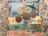 Beautiful examples of Costa Rica money.
