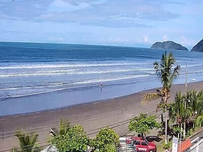 Webcam overlooking Playa Jaco.