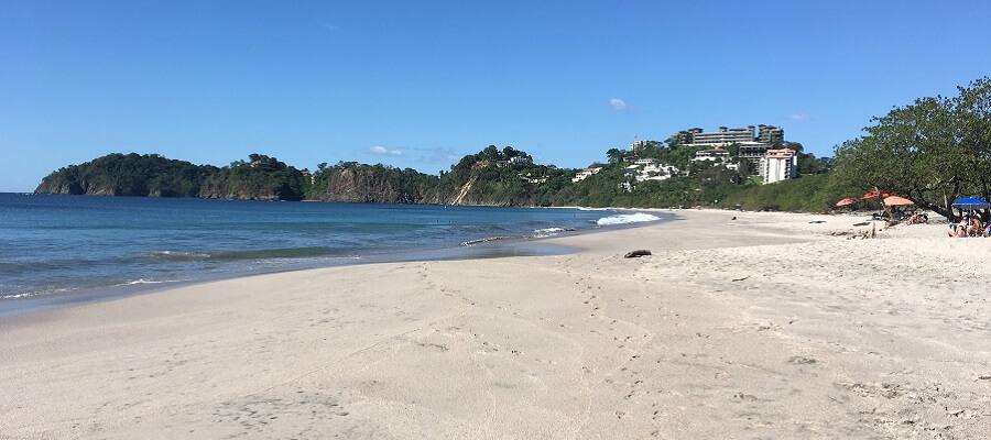 The beautiful white sand beach of Playa Flamingo Costa Rica.
