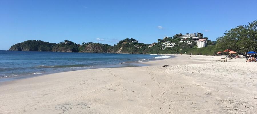 The white sands of Playa Flamingo Guanacaste Costa Rica.