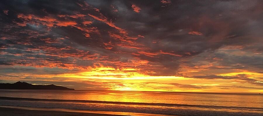 Beautiful sunset in Playa Flamingo Costa Rica.