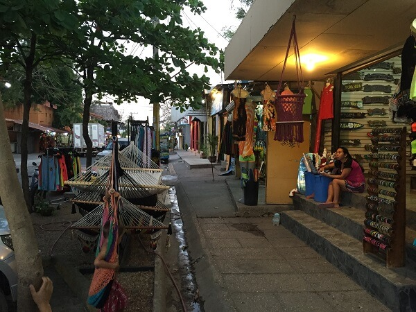 The shops of downtown Tamarindo Costa Rica